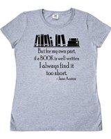 Tee Shirt Jane Austen Quote