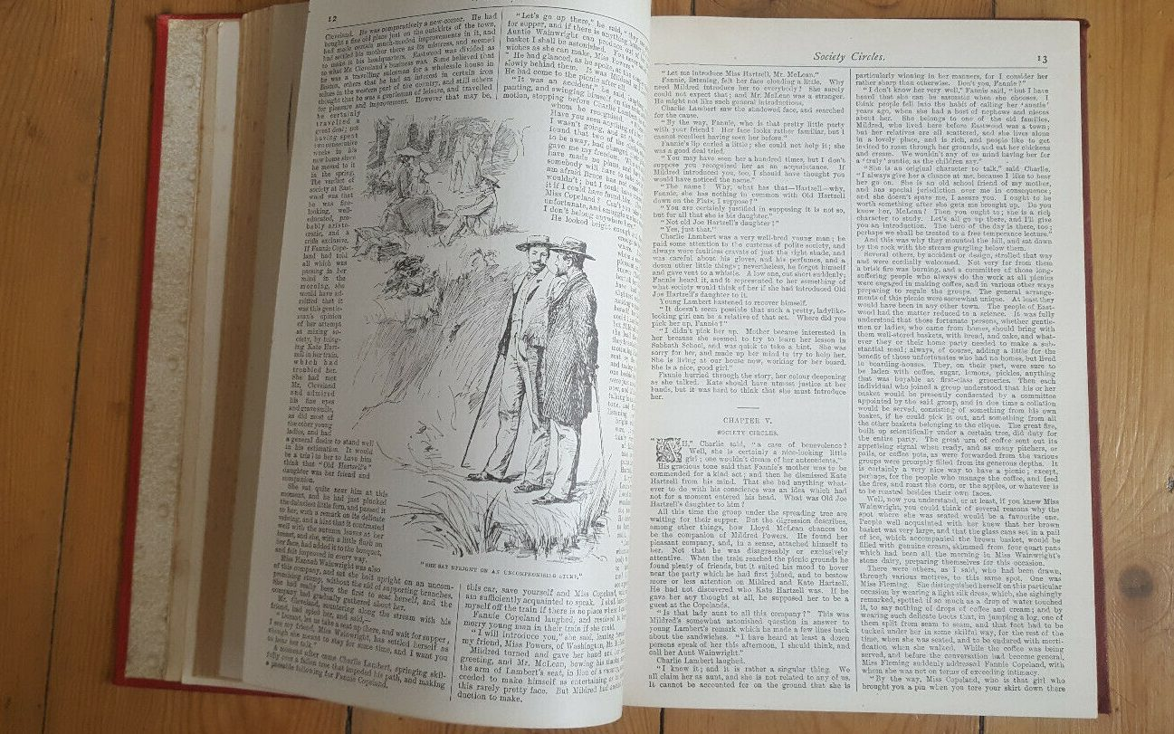 Photo of open book showing one of the book's illustrations.